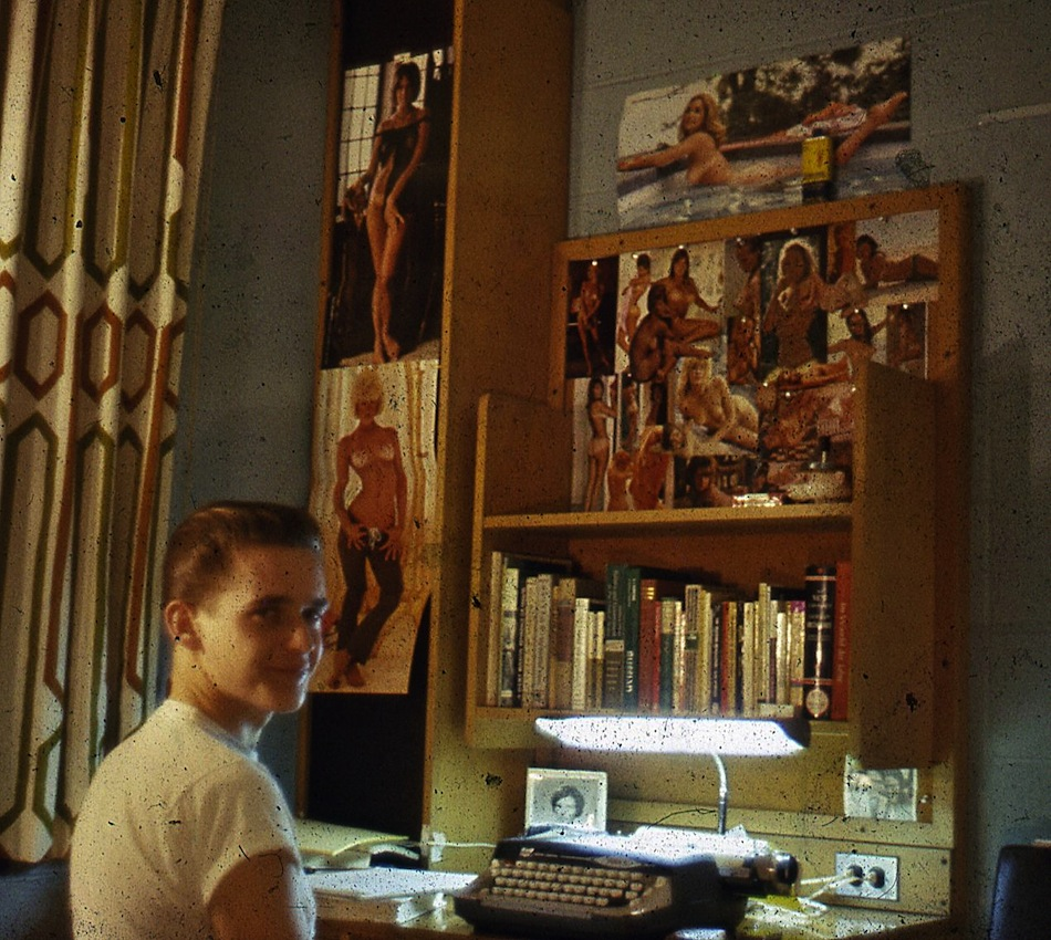 Student in dorm room, Boston University, ca. 1966
